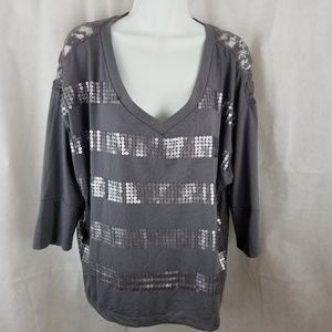Junior XL top sequin and lace